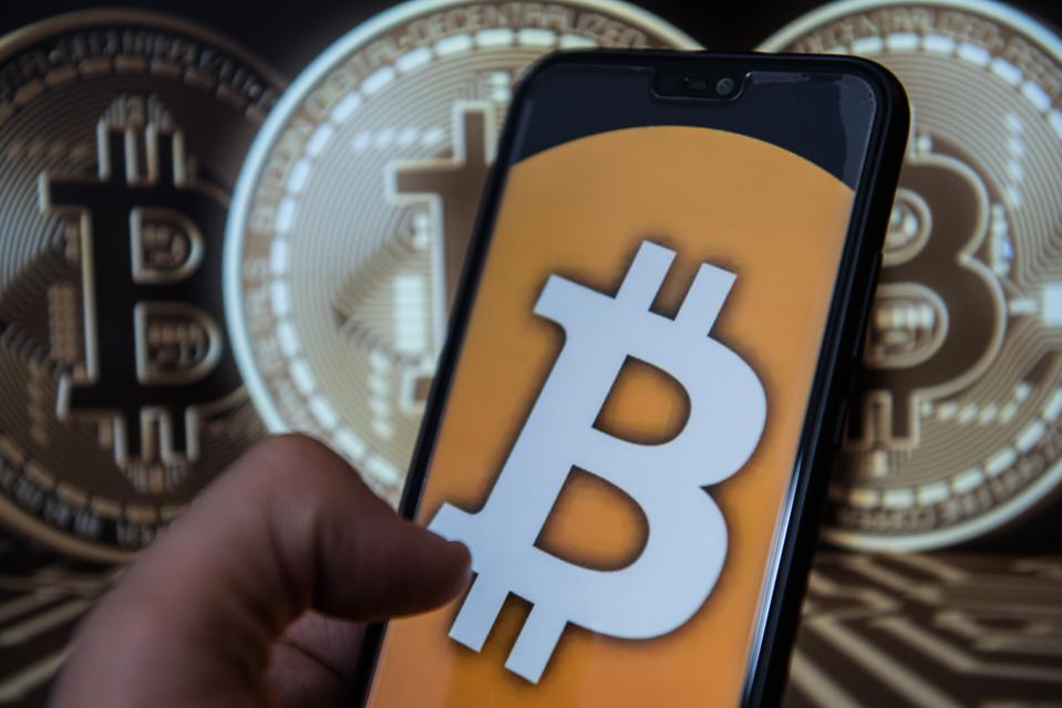 Bitcoin wallet app is seen on an android mobile phone