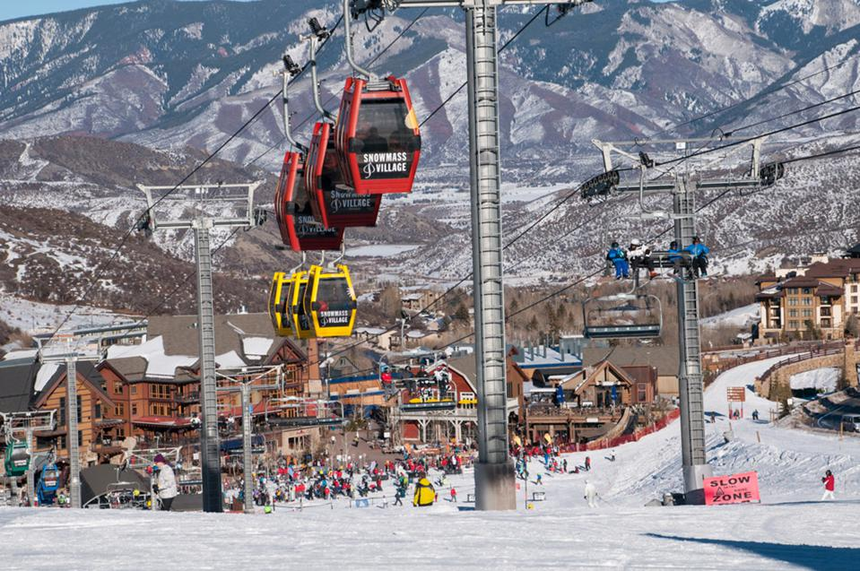 Ski area at Snowmass, Colorado