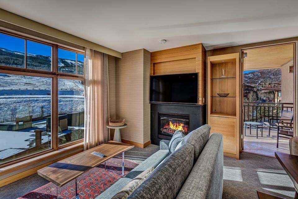 The living room in a Colorado condo.