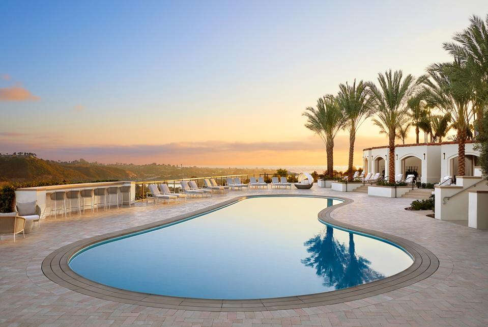 Pool at luxury hotel