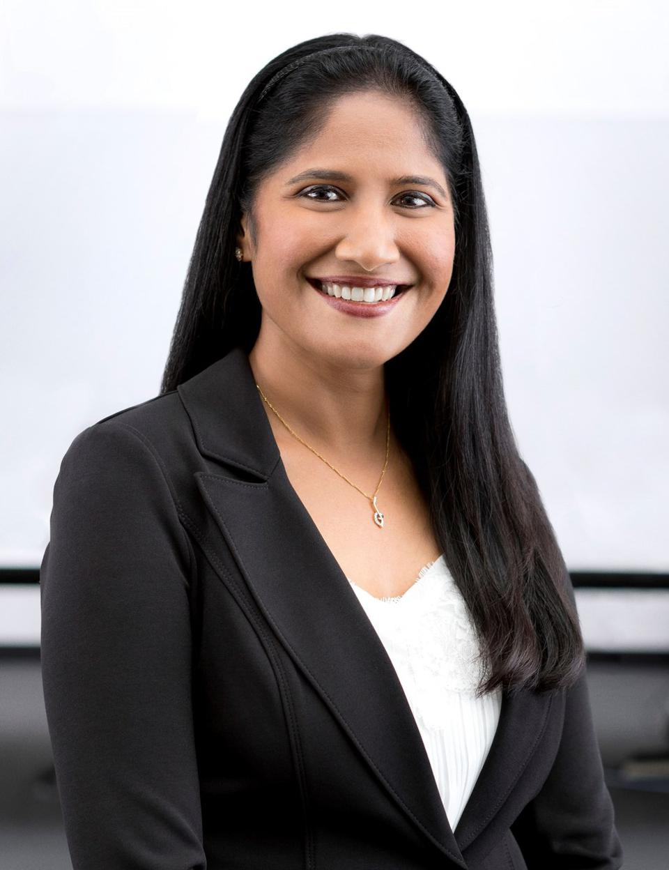 This is a portrait photo of Bhavani Amirthalingam, Ameren Corporation senior vice president.