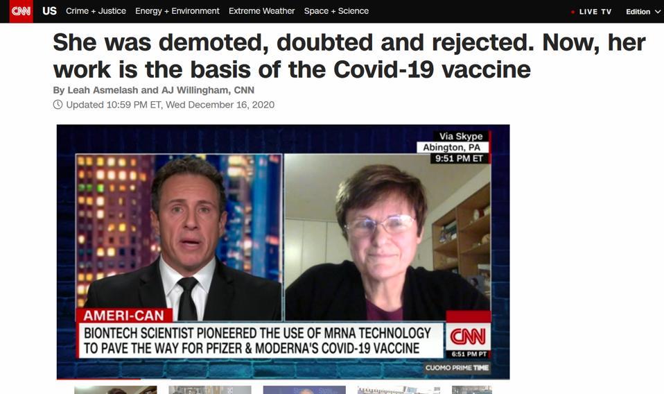 Vaccine hero Kariko