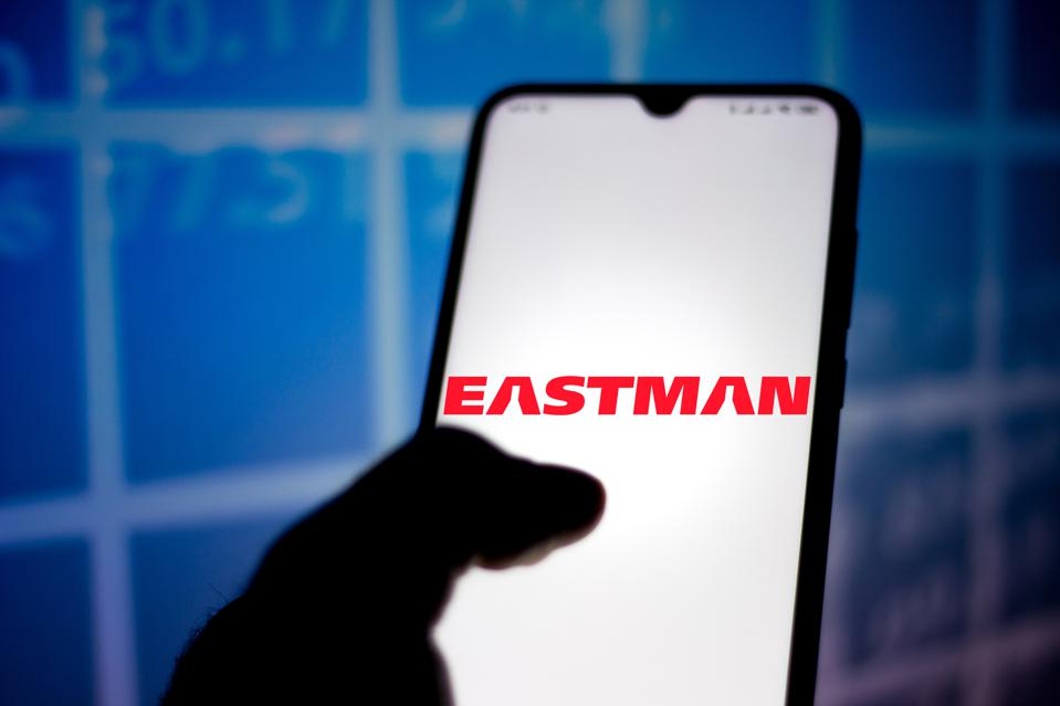 In this photo illustration the Eastman Chemical Company logo...