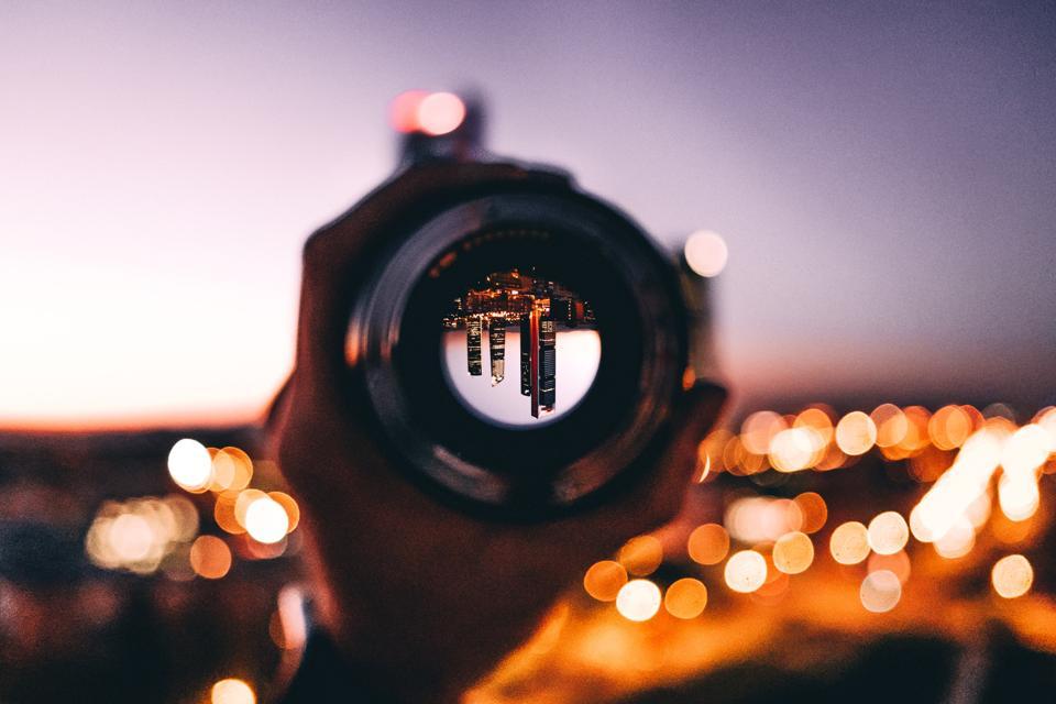City through a telescope