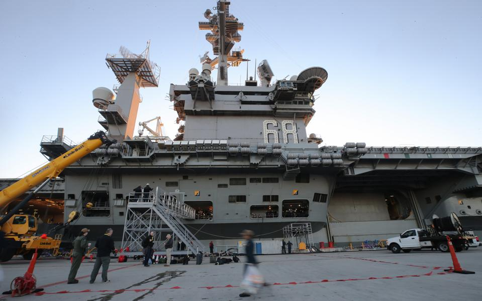 U.S. Navy Conducts Carrier Qualification Training Aboard The USS Nimitz