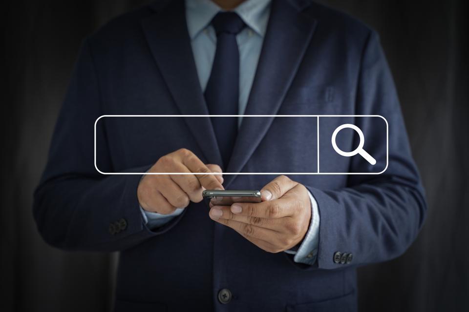 Digital Composite Of Man Using Smart Phone