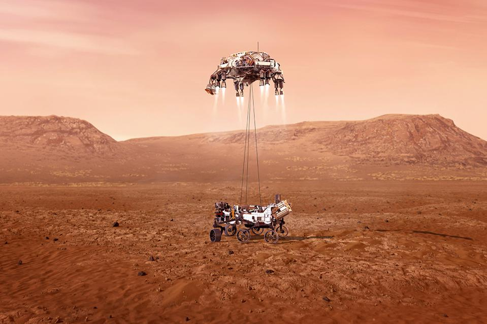 Perseverance landing on Mars