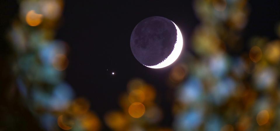 Crescent Moon and Jupiter over Van