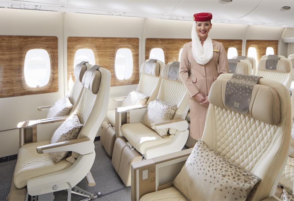 Emirates' new Premium Economy seat with crew