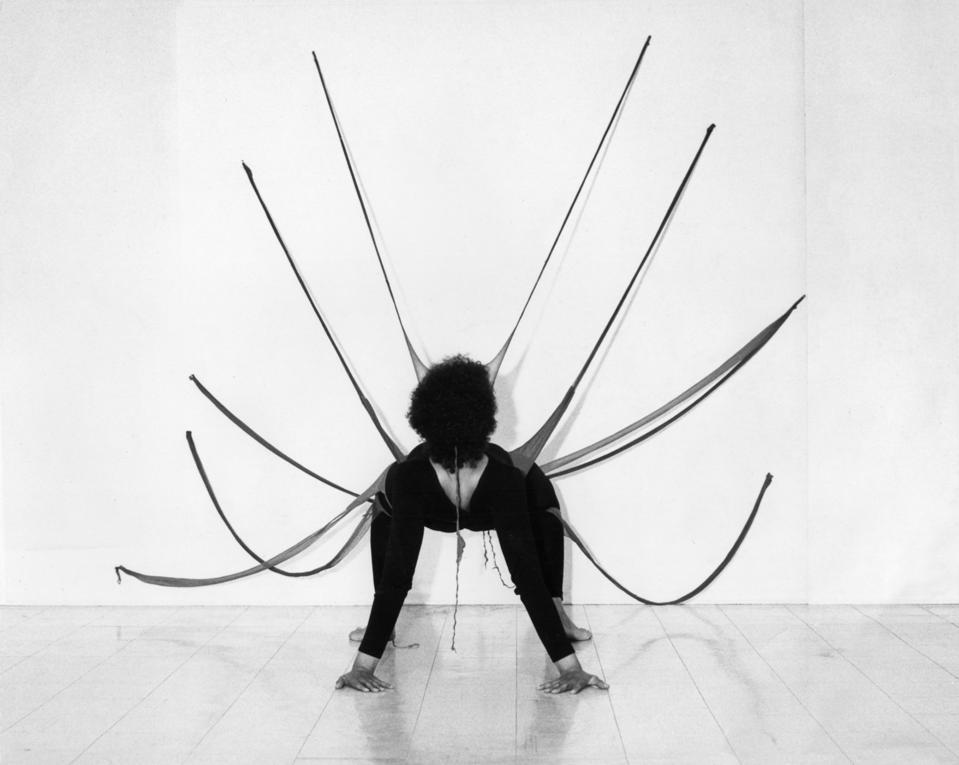 A performance by Senga Nengudi