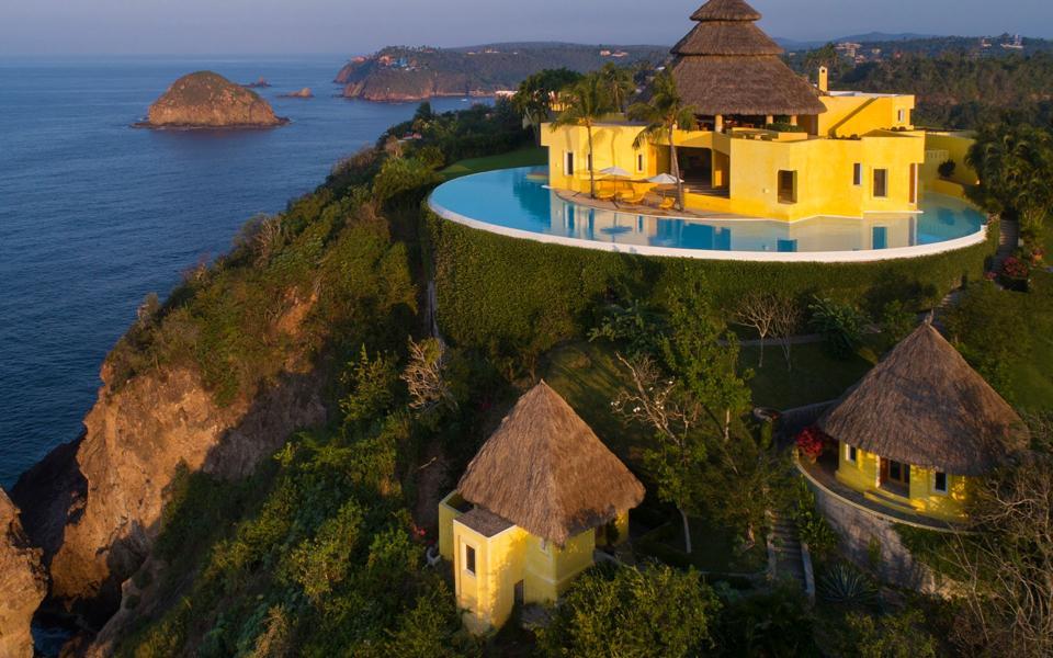 A cliff-side villa in Mexico.
