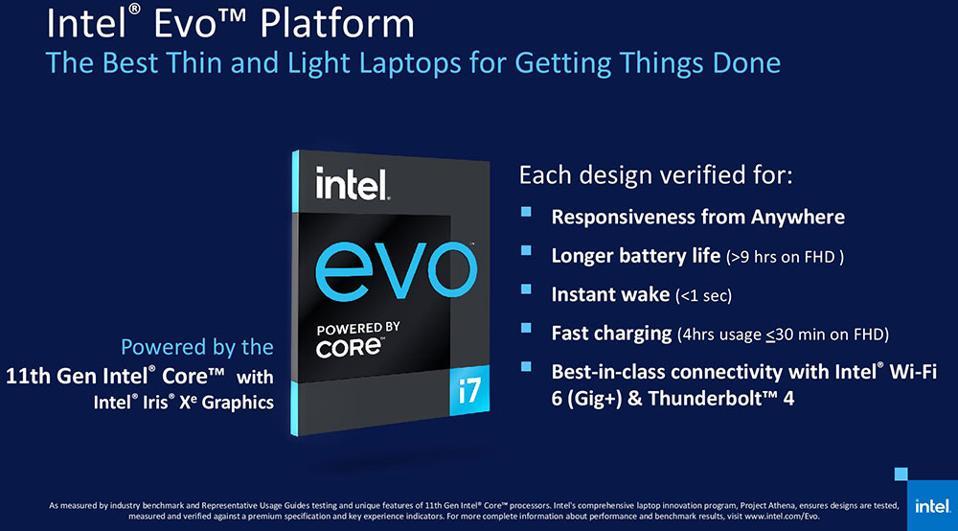 Intel Evo Platform Blueprint Requirements