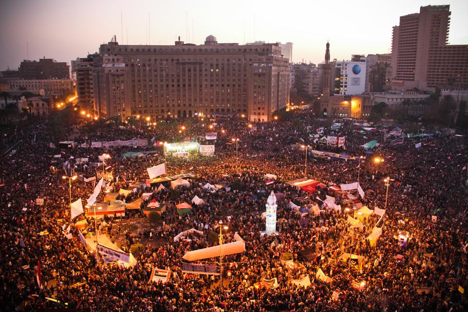 Tahrir Square in central Cairo became the symbolic gathering for protestors during the Arab Spring in 2011 that led to toppling of President Hosni Mubarak