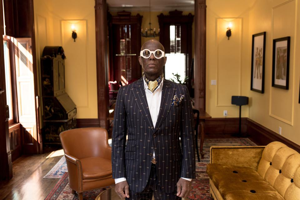 Dapper Dan in his Gucci Atelier in Harlem.
