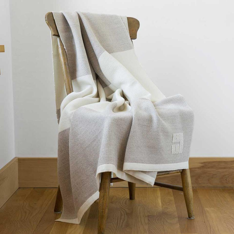 The Winterport Throw ($550) from Swans Island Company.