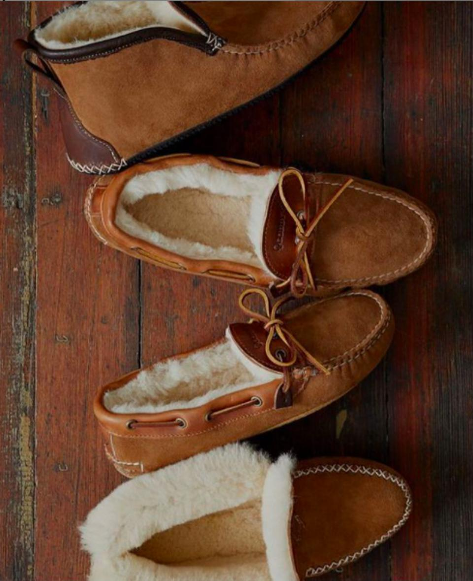 Handcrafted Quoddy slippers.