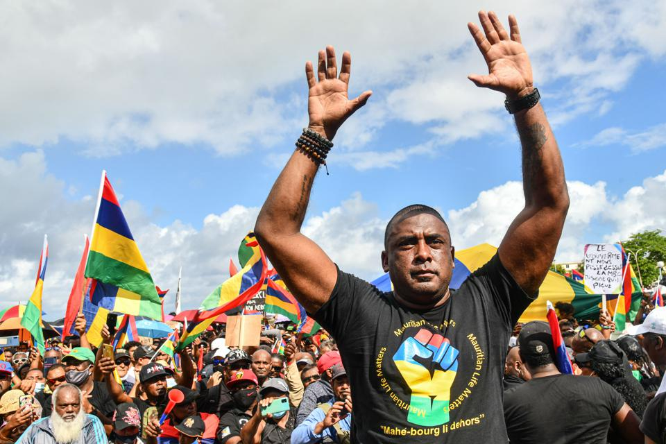 Mauritian social activist Bruneau Laurette has been particularly targeted by authorities over his organization of several large protest marches in the country since the oil spill