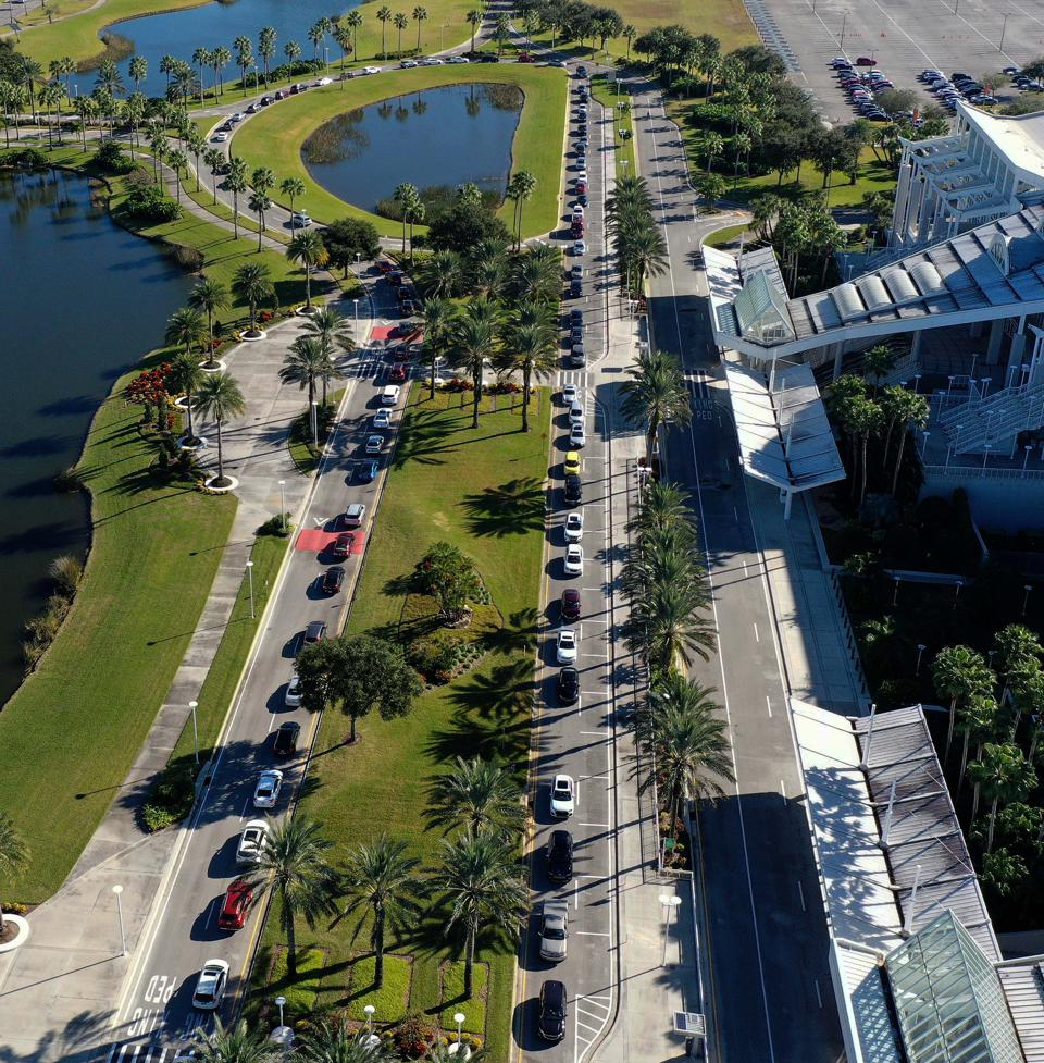 Florida Seniors Receive COVID-19 Vaccine In Orlando