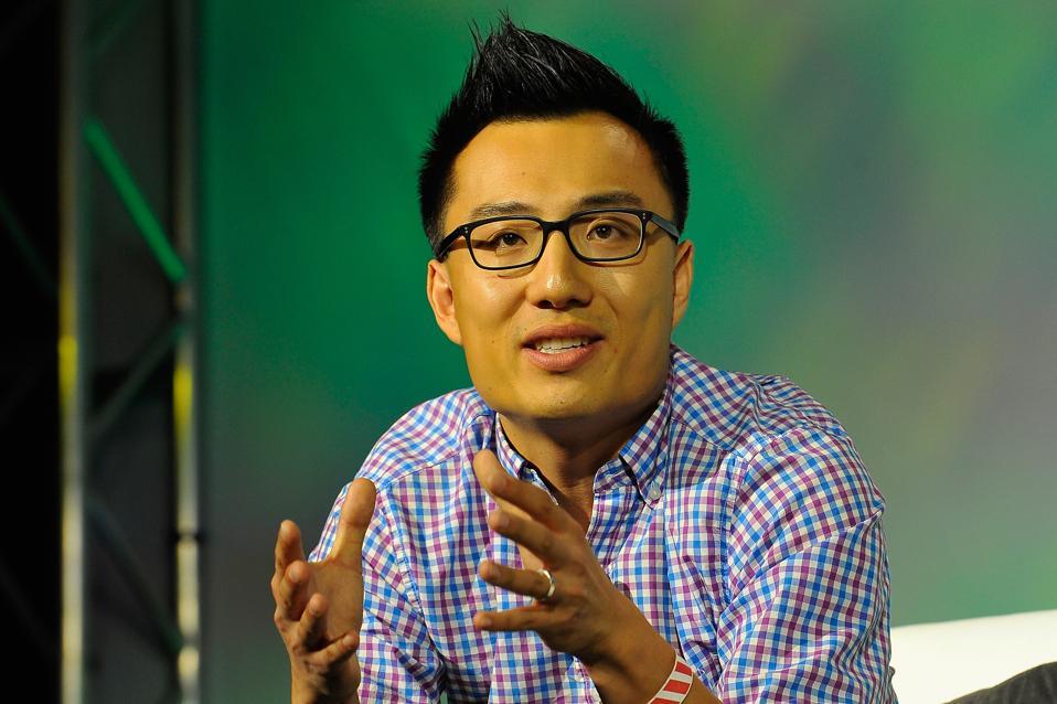 DoorDash cofounder and CEO Tony Xu in a 2014 photo.