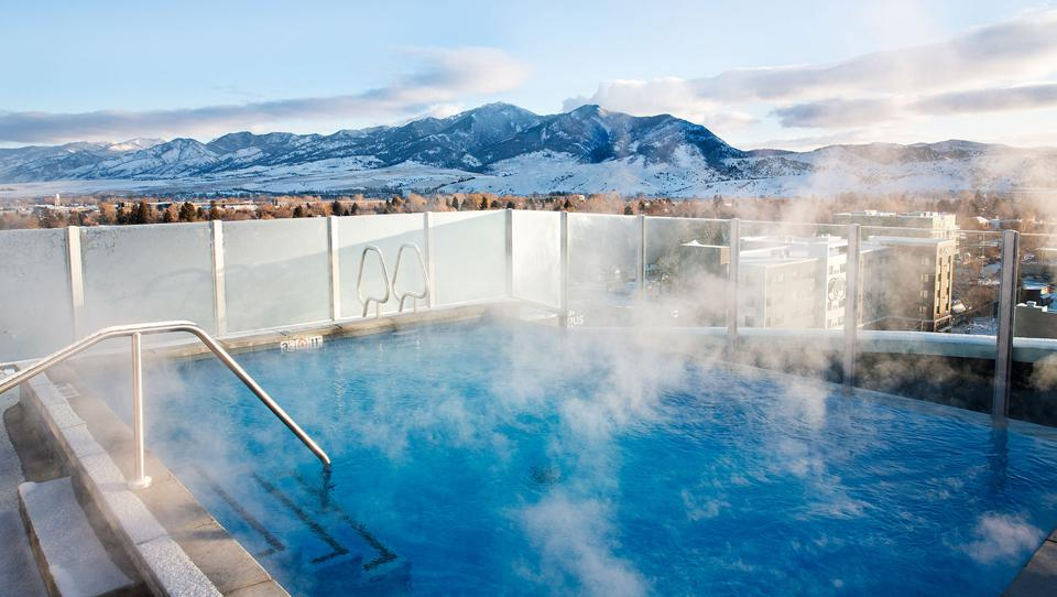 Montana rooftop hot tub