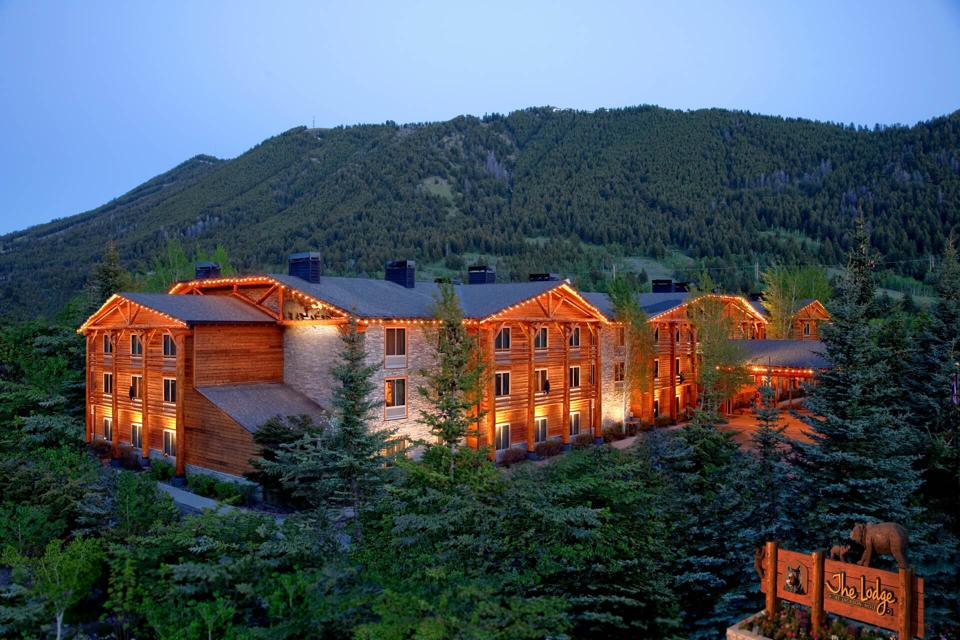 lodge in mountains, Wyoming
