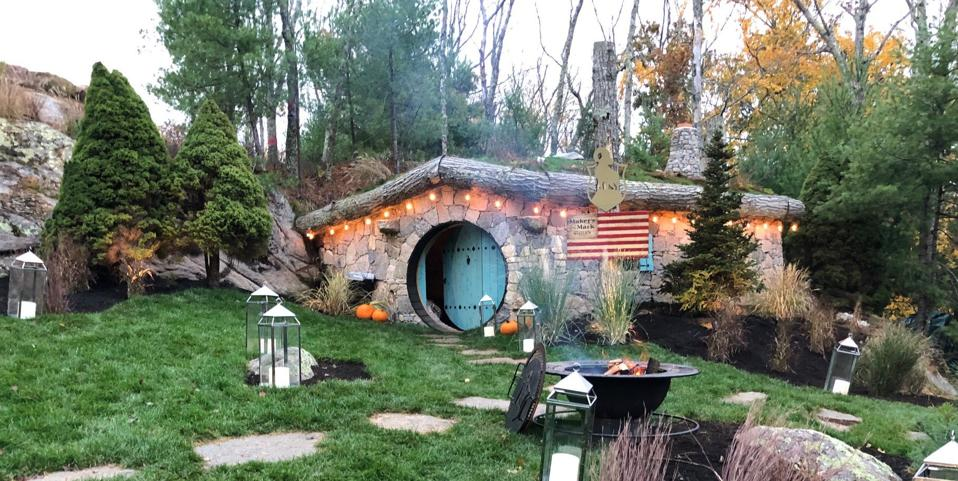 The cute and cozy Hobbit House serves food you'd probably see in The Shire itself, with a warm fire begging to be used for smores.