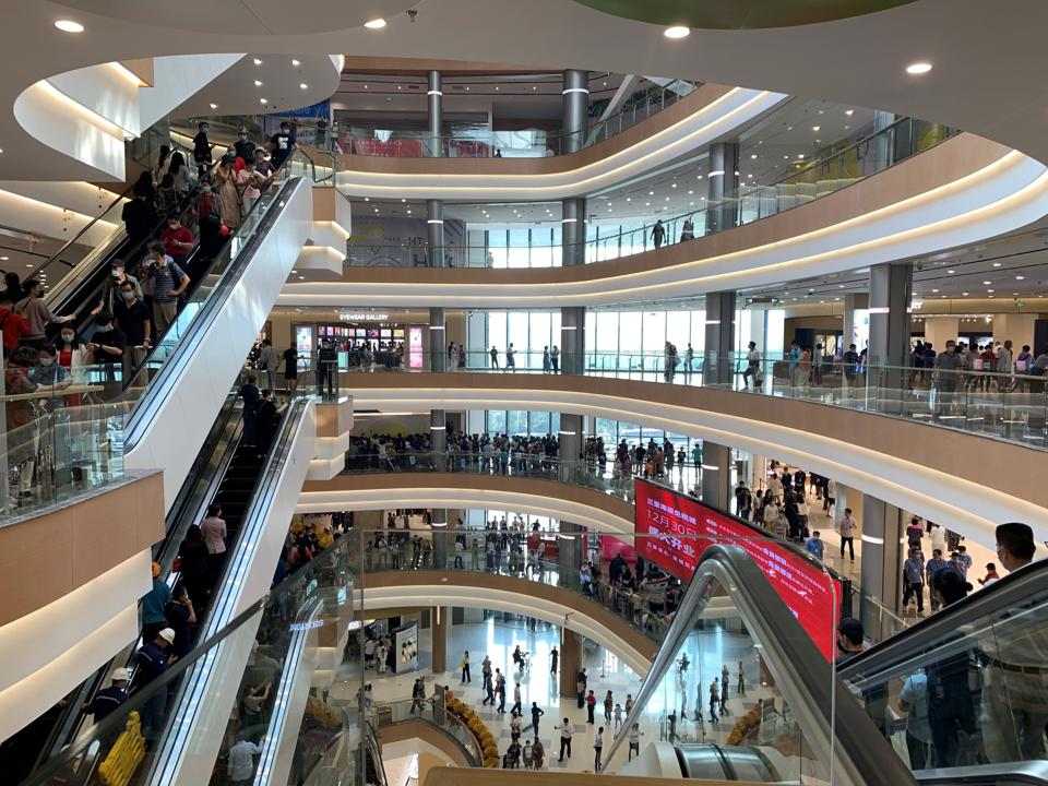 Five floors at a new mall from Lagardère Travel Retail and Hainan Tourism Investment Development Company in Sanya, China.