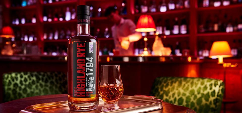 Arbikie rye whisky scotch single grain