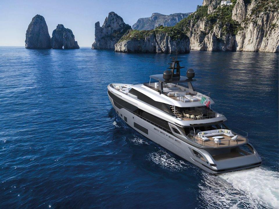 The several new models (including this Trideck) from Azimut Yachts have been sold before they have even been built.