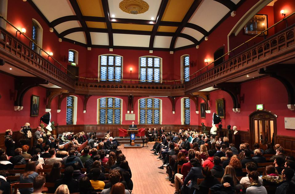 Prince Albert Of Monaco Visits The Oxford Union