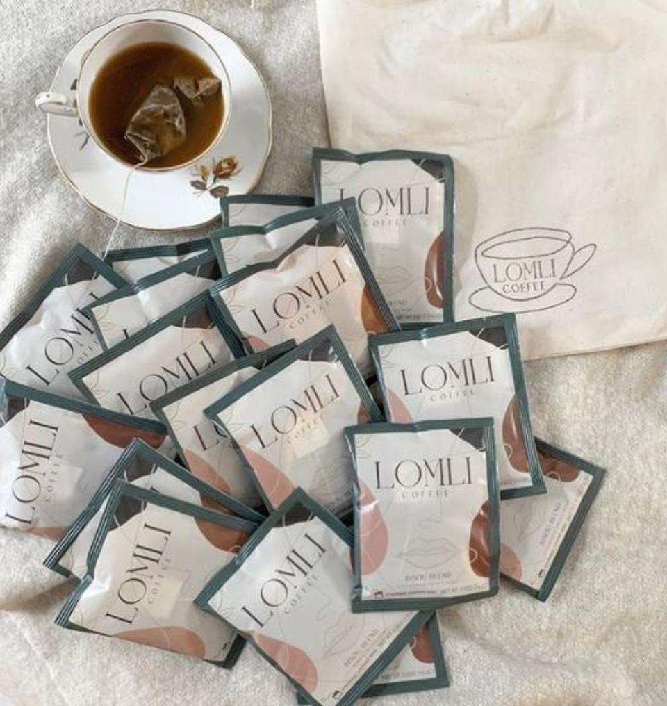 LOMLI coffee is a company started by Donna Kim, and stands for Love Of My Life Is