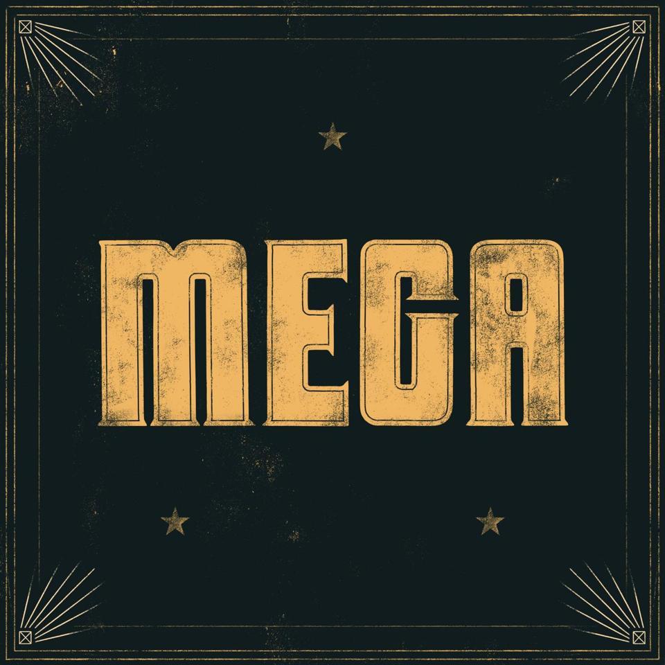 MEGA - Logotipo do Mega Podcast de Improvisação de Igreja