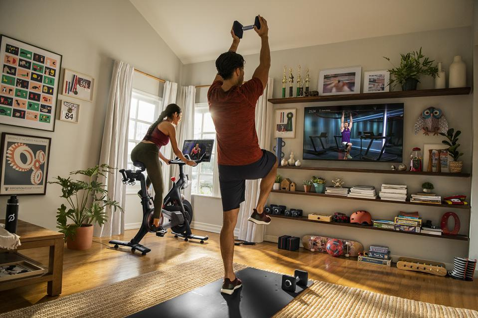 Peloton workouts at home