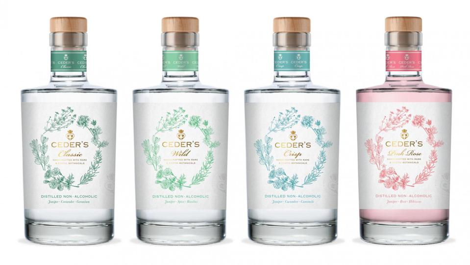 Bottles of CEDER'S non-alcoholic gin