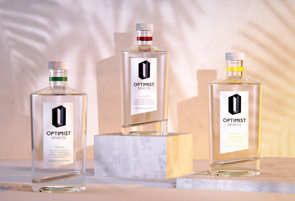 Bottles of Optimist Spirits