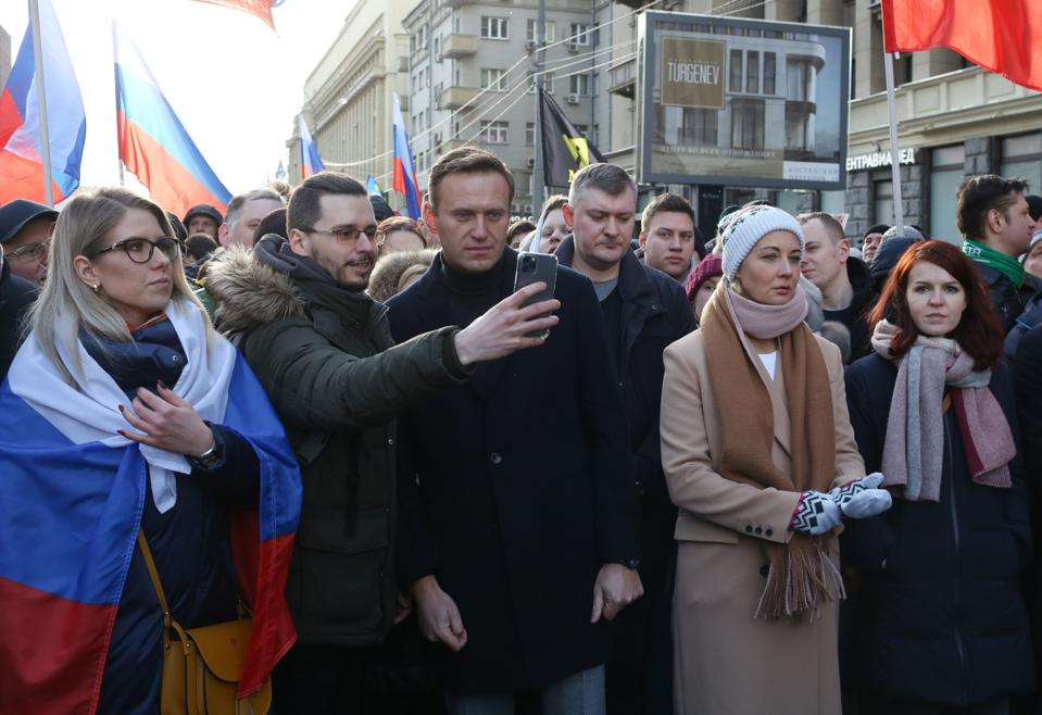 Large-scale Russian Opposition Demonstration