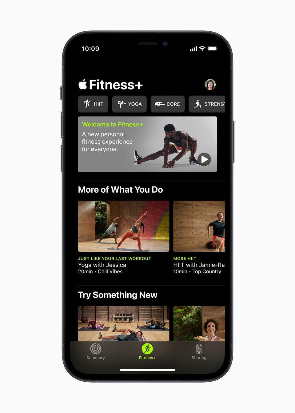 Apple Fitness + es muy fácil de orientarse.