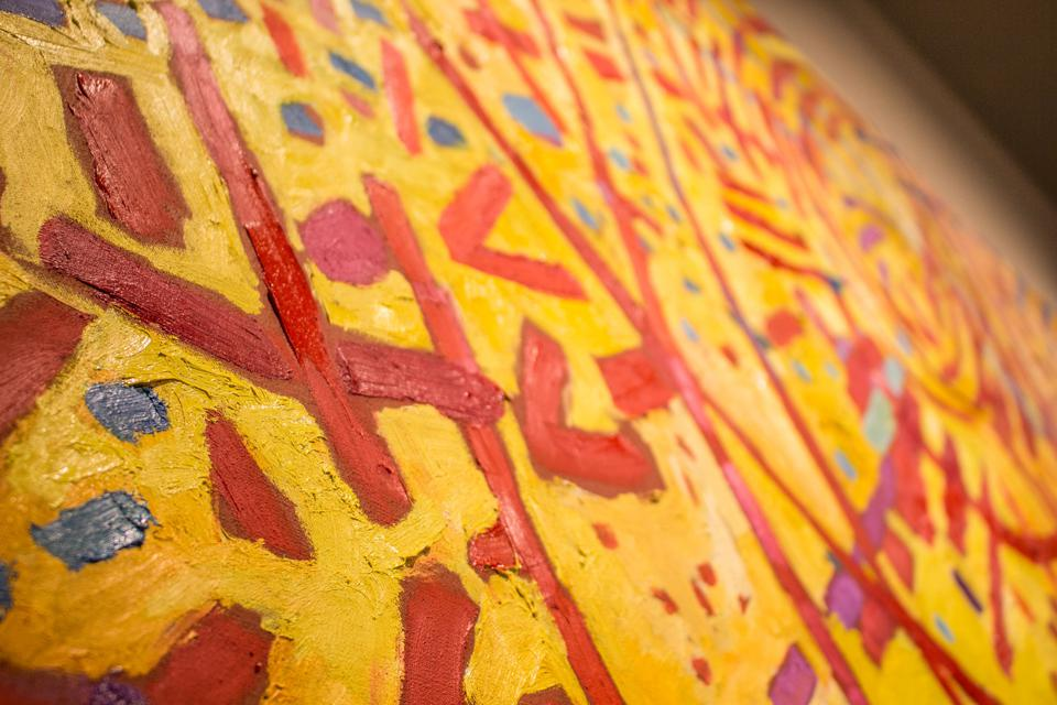 Detail of Mildred Thompson, 'Magnetic Fields,' oil on canvas, at Cummer Museum of Art and Gardens, Jacksonville, Florida.