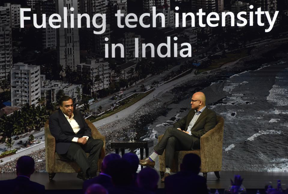 Microsoft CEO Satya Nadella At Microsoft Future Decoded Summit In Mumbai