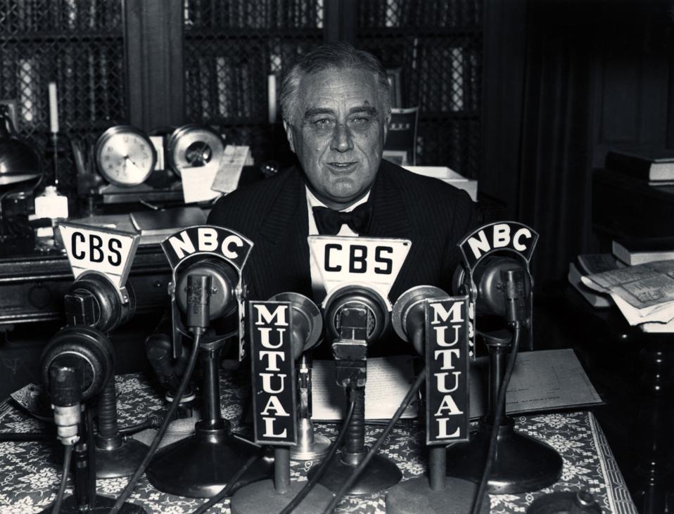 President Franklin D. Roosevelt During Radio Broadcast