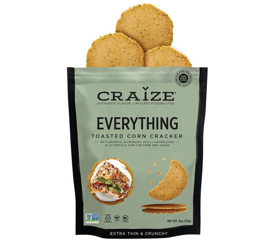 Craize Everything Cracker toasted corn gluten free Venezuelan Arepa