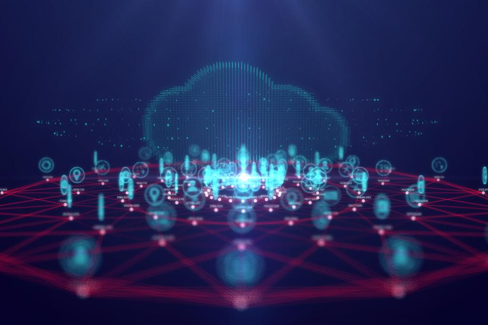 CLOUD COMPUTING TECHNOLOGY AND INTERNET OF THINGS CONCEPT,BIG DATA AND CONNECTION TECHNOLOGY