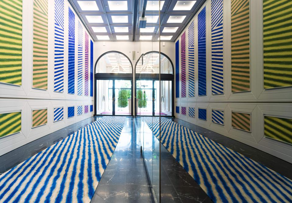 The Raffles Europejsky Warsaw hotel is full of contemporary art by Polish artists