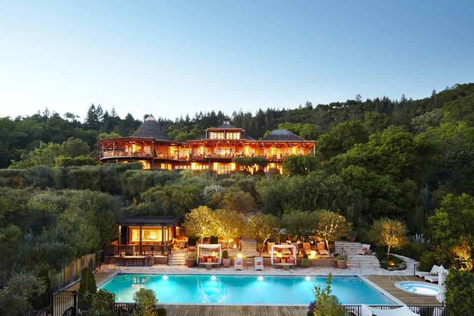 Nestled within a terraced, sun-kissed hillside amid 33-acres of heritage olive and oak trees, Auberge du Soleil offers fifty contemporary guest rooms and suites and has a long-standing reputation as wine country's most iconic luxury property.