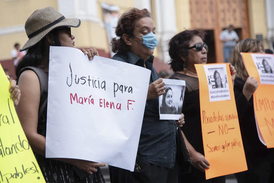 A demonstration against the murder of Maria Helena Ferral in Xalapa, Mexico
