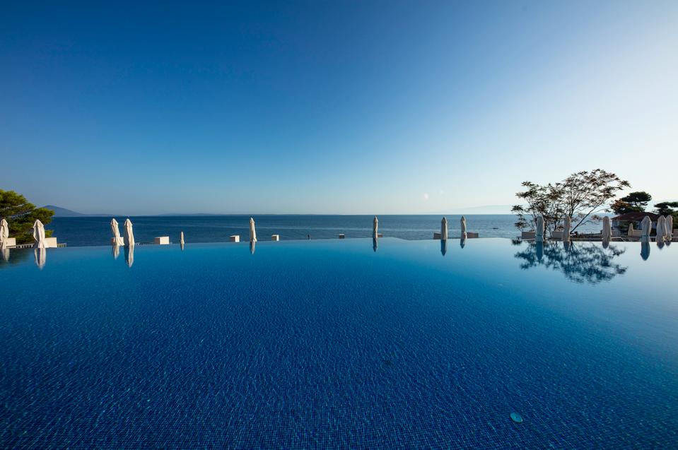 Sea views from Punta Vitality Hotel on Losinj Island in Croatia.