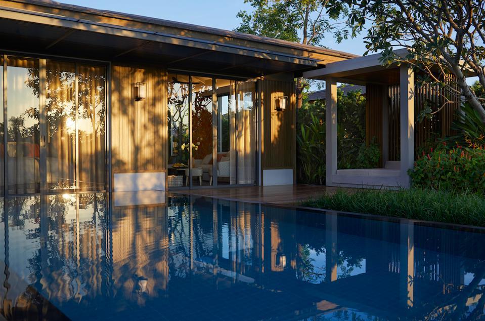 A pool villa at newly opened RAKxa in Bangkok.