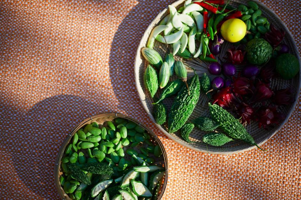 Fresh ingredients at Bangkok's new wellness retreat, RAKxa.