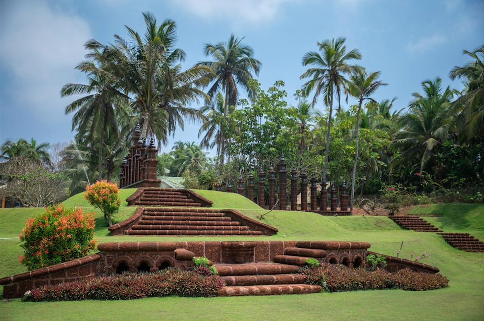 The gardens of soon-to-open wellness resort King's Mansion.