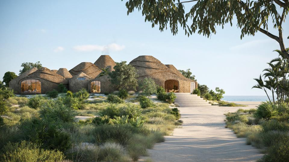 The spa at soon-to-open Kisawa Sanctuary in Mozambique.